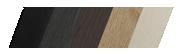 Palette des baguettes larges